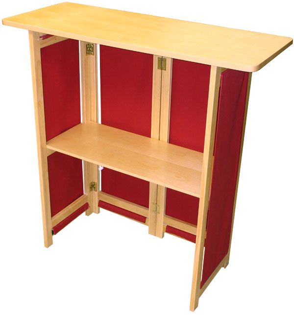 Portable Cabinets For Display : Hardwood portable bar exhibitors folding cabinet