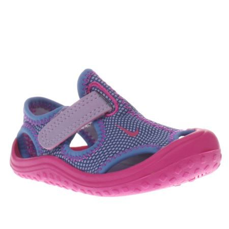 Explore Toddler Sandals, Nike Trainers and more! kids nike purple & pink sunray  protect girls toddler