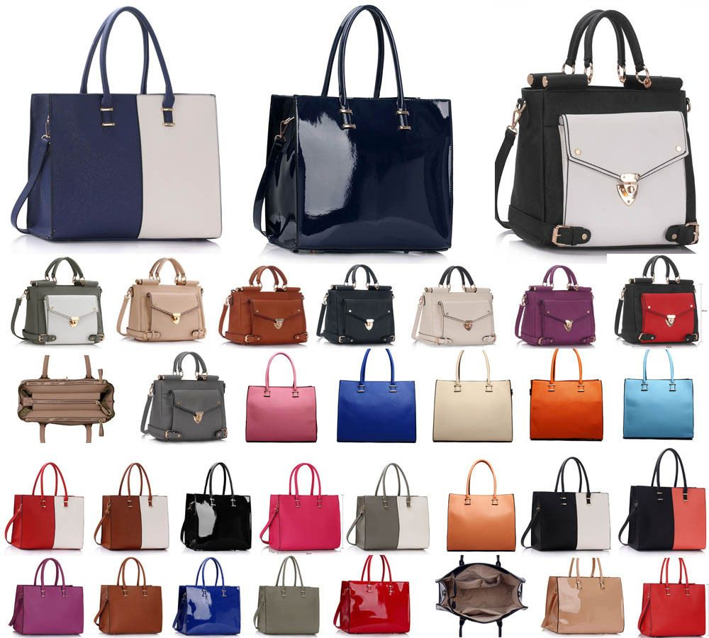 Ladies Women s Large Designer Fashion Tote Bags Shoulder Handbag College Bag 1c3f95def8ebc