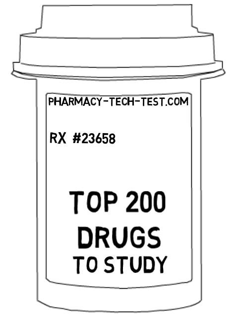 This is the Top 200 drugs list to memorize in preparation