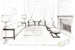 Innenarchitektur skizze wohnzimmer  simple ID sketch | Sketches | Pinterest | Skizze, Architektur und ...