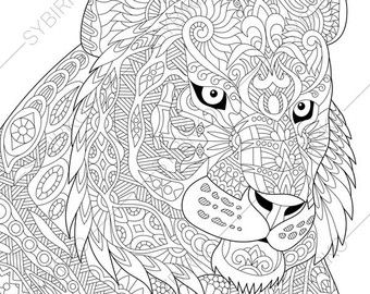 easter bunny rabbit hare 3 coloring pages animal coloring book pages for adults instant download print