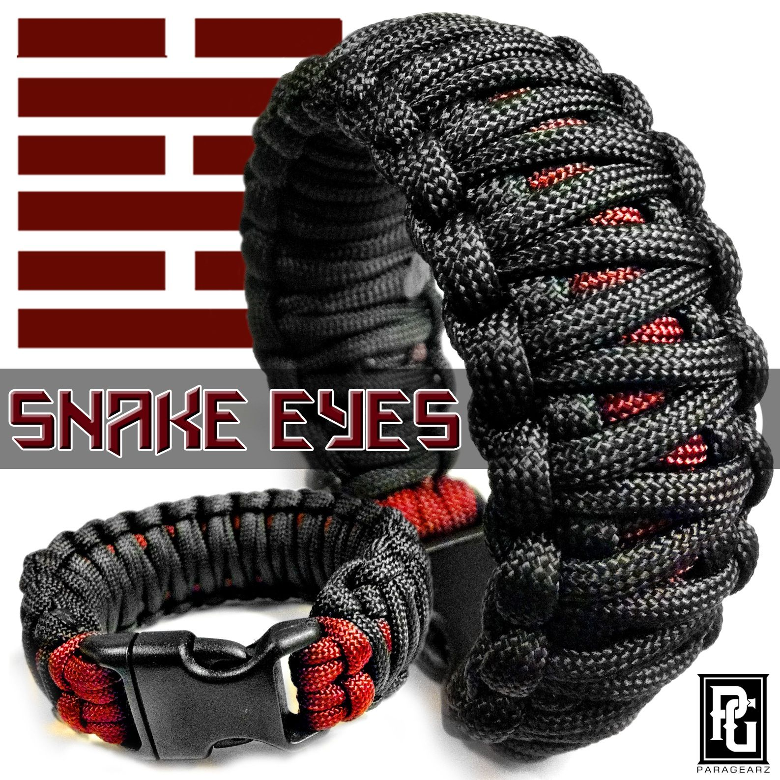 Snake Eyes Themed Paracord Bracelet Available At Www Paragearz