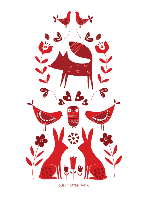 Instant Download - Digital Collage Sheet - Traditional Folk Art ...