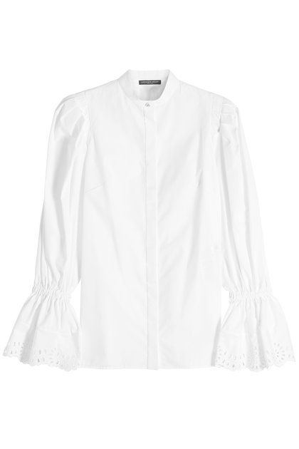 Cotton Shirt with Bishop Sleeves | Alexander McQueen