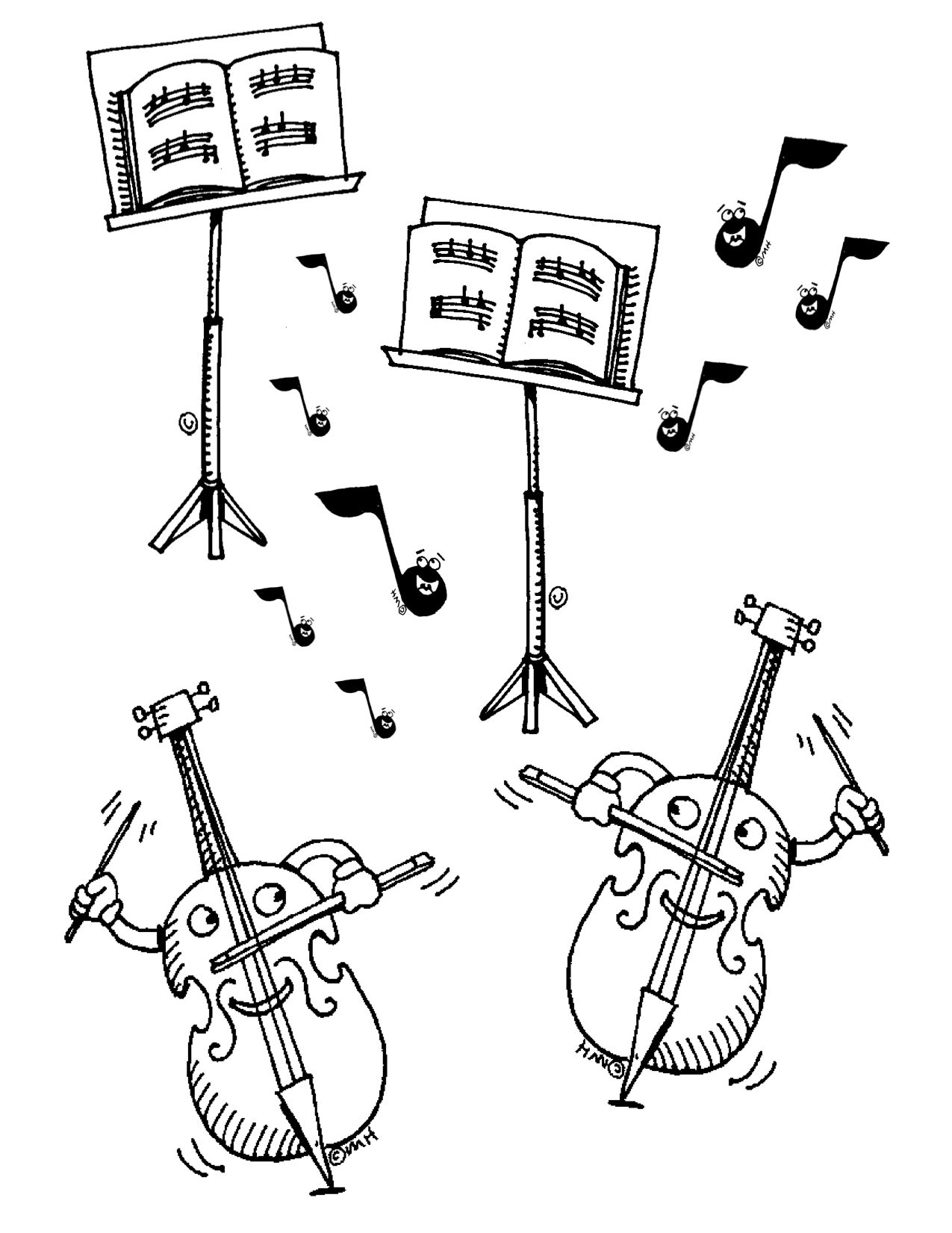 Free Violin Clip Art: Here is a coloring sheet for young students ...