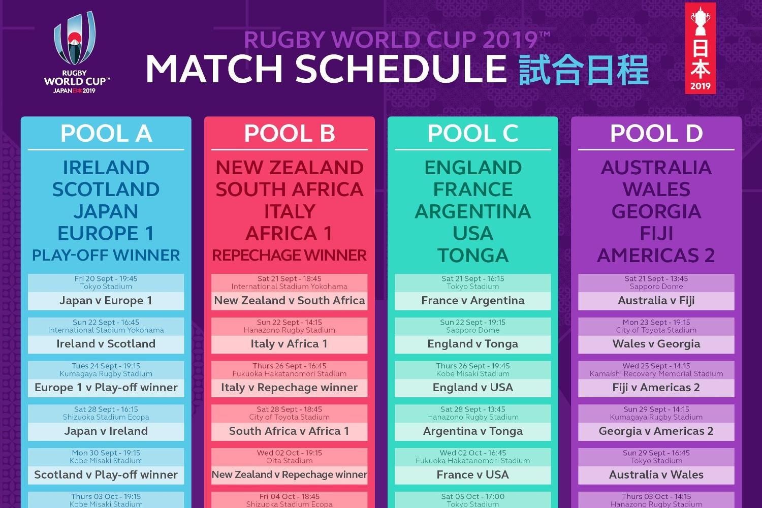 Rugby World Cup 2019 Live Stream Rugby world cup, Rugby