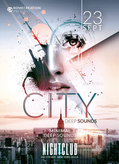 Minimal Deep Sounds  Psd Flyer Template By Romecreation On