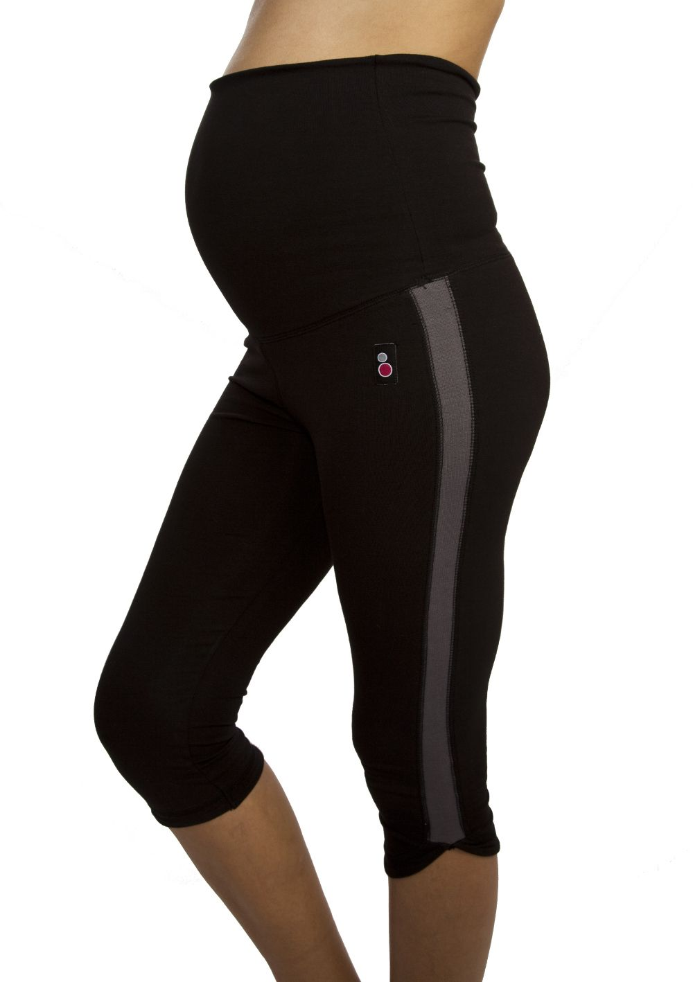 e2db6866120af Maternity Fitness Capri Flattering three-quarter length maternity exercise  leggings with roll-up roll-under support waistband. Check out our  supportive ...