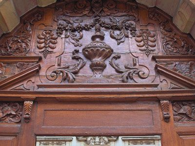 Carved entryway
