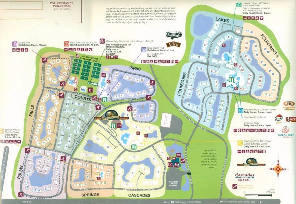 Sheraton Vistana Resort Map Sheraton Vistana Resort Layout Map | Map Layout Sheraton Vistana