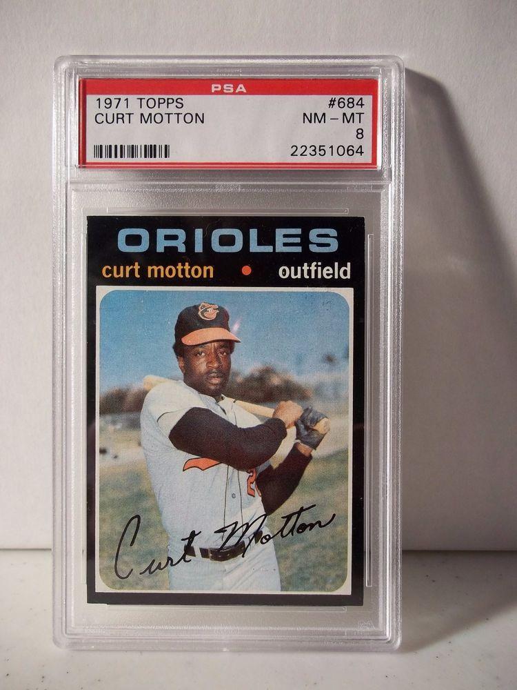 1971 topps curt motton psa graded nmmt 8 baseball card