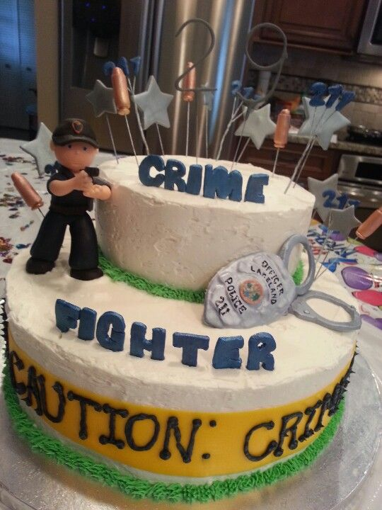 Dustins police birthday cake everything is edible My creations