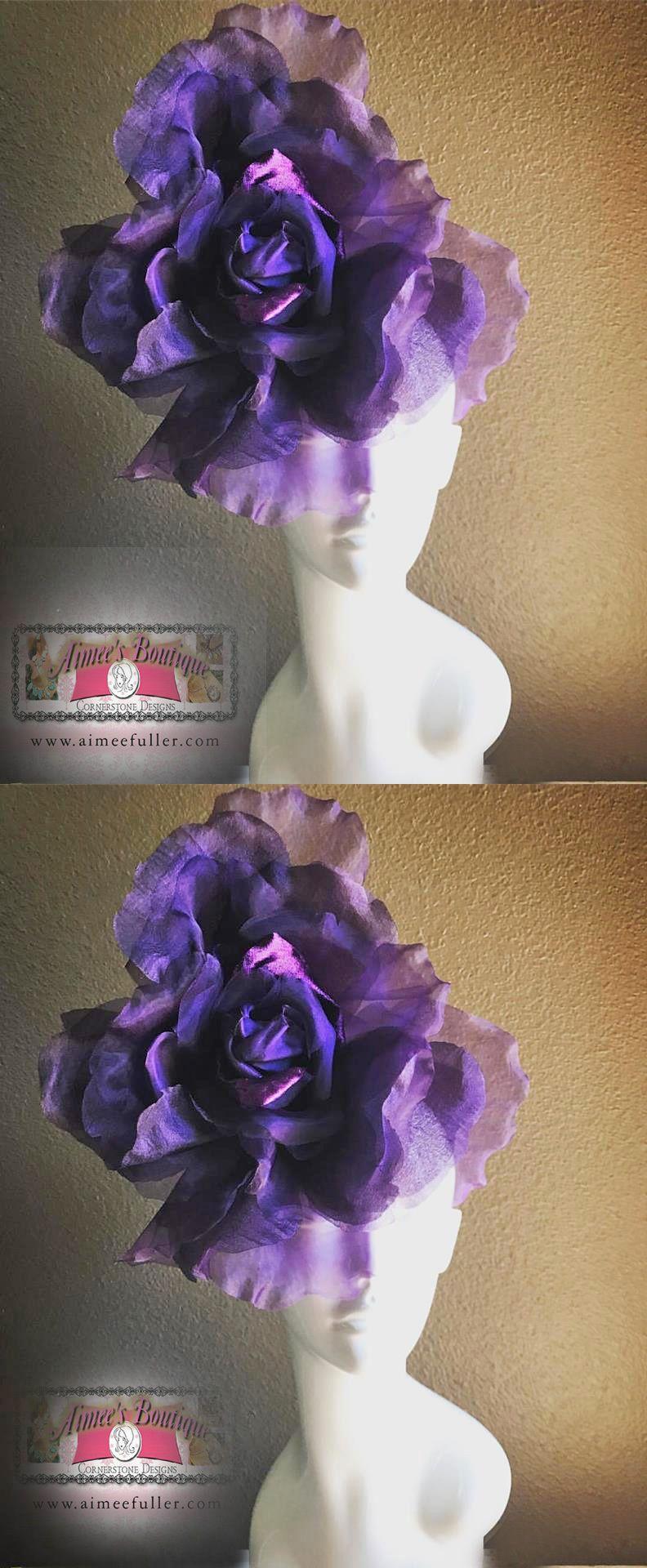 Fascinators And Headpieces 168998 Melbourne Cup Large Flower Purple