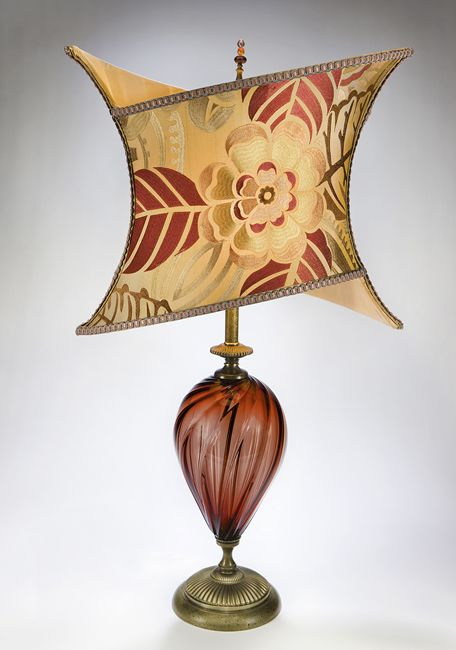 Joanna: Caryn Kinzig And Susan Kinzig: Mixed Media Table Lamp   Artful  Home. Another Blown Glass Body With An Embroidered Dupioni Silk Shade    With An ...