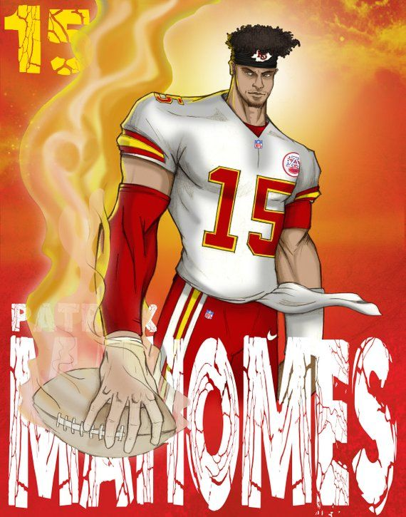 Patrick Mahomes Poster Kansas city chiefs football