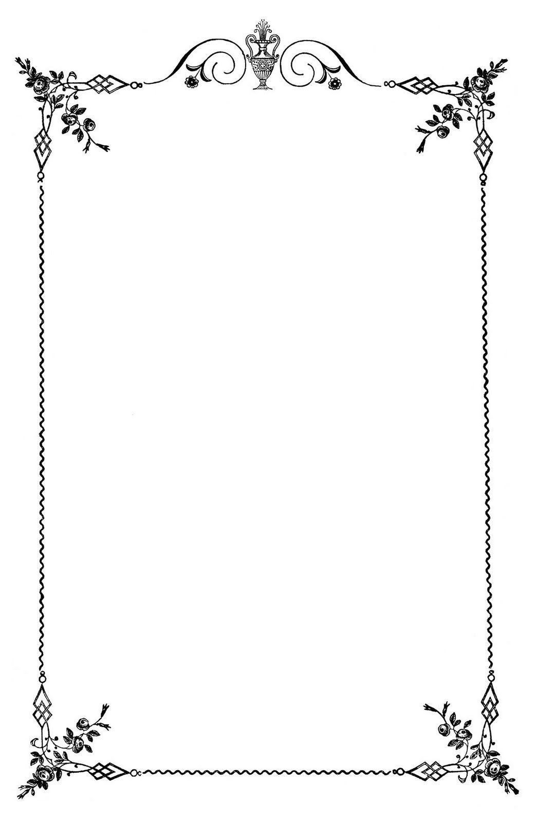 Decorative borders for microsoft word fancy page borders for microsoft - Free Frames Vintage Clip Art Elegant Frame Wedding Menus The Graphics Fairy
