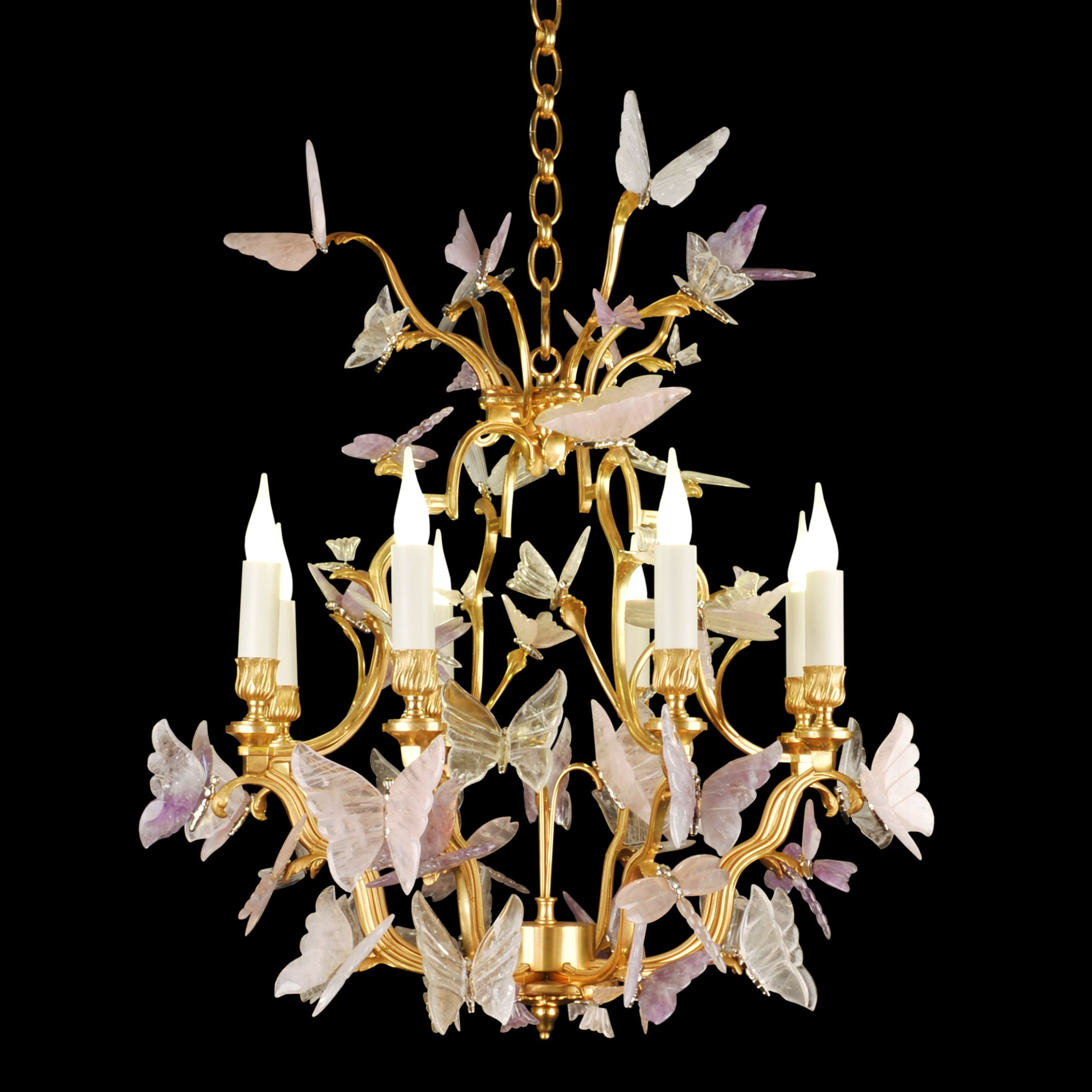 Pin by tisserant art style on chandelier 24 k finish on bronze amethyst chandelier bronze crystal luminaire mozeypictures Gallery