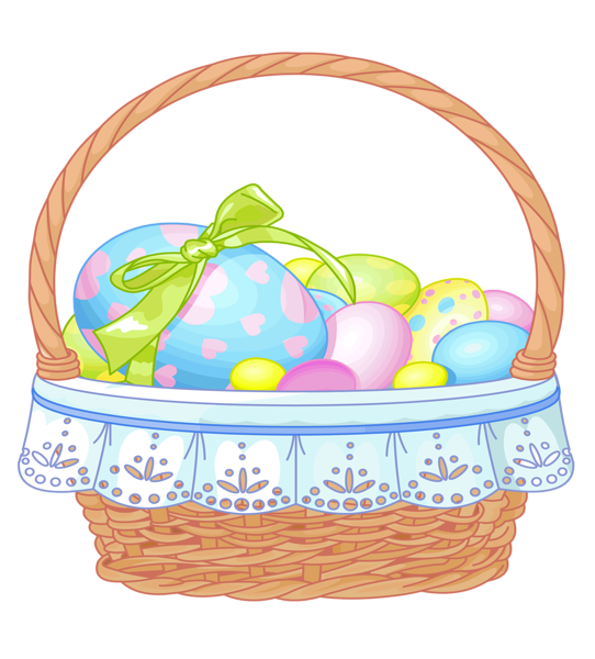 images of easter decoration png clipart easter basket with eggs rh pinterest com easter basket clip art black and white easter bunny basket clipart
