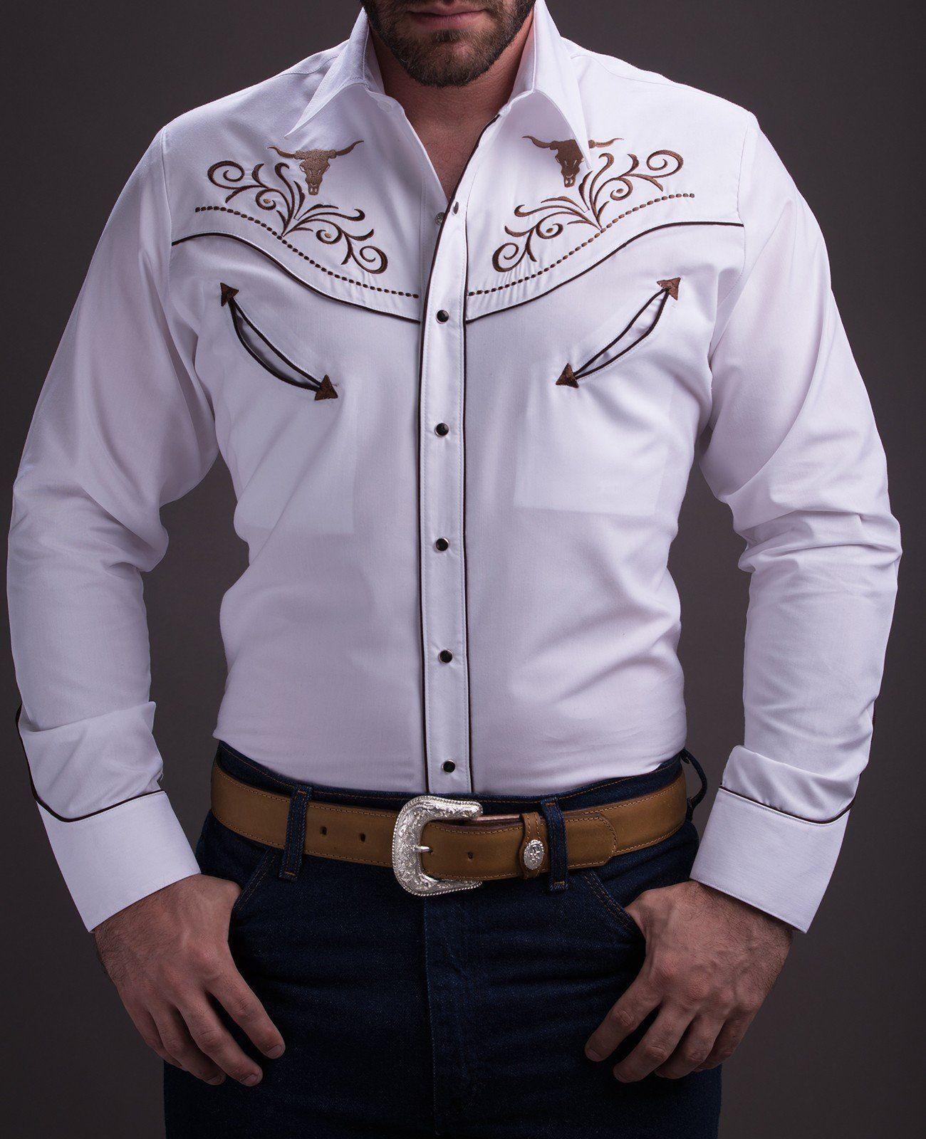 06c77120578a Rafael Amaya Western White Shirt 052CA01 in 2019