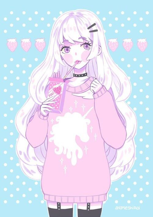 Unicorn Kawaii Anime Pastel Goth Art Kawaii Art