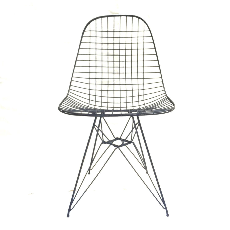 Mid Century Modern Wire Chair Eiffel Base
