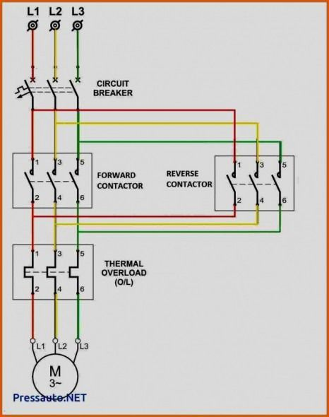 3 Phase Contactor With Start Stop Wiring Diagram In 2020
