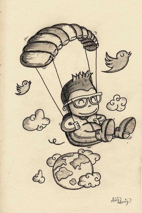Resultado de imagen de parapente cartoon