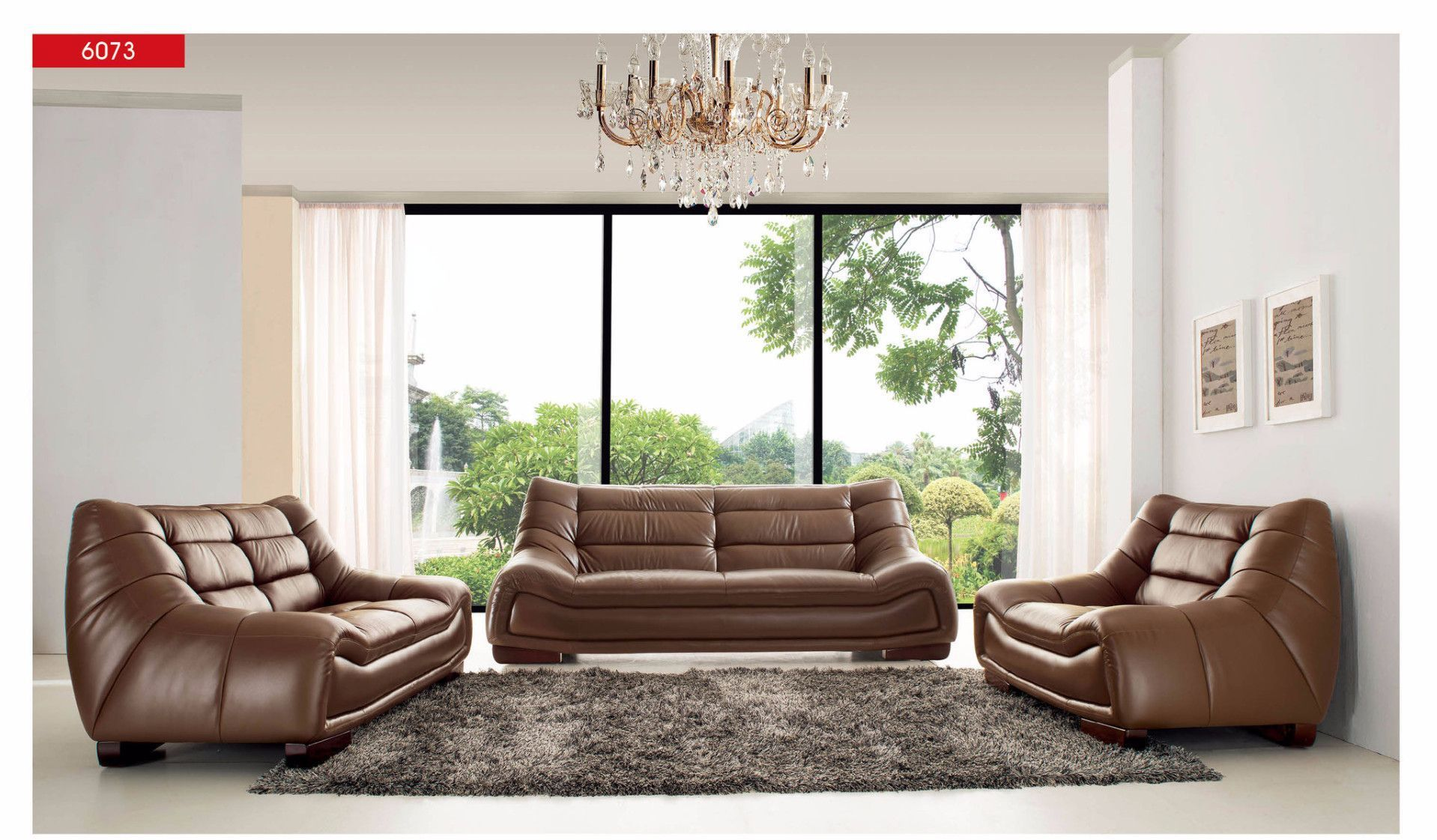 Stylish Design Furniture Divani Casa 870 Traditional Leather