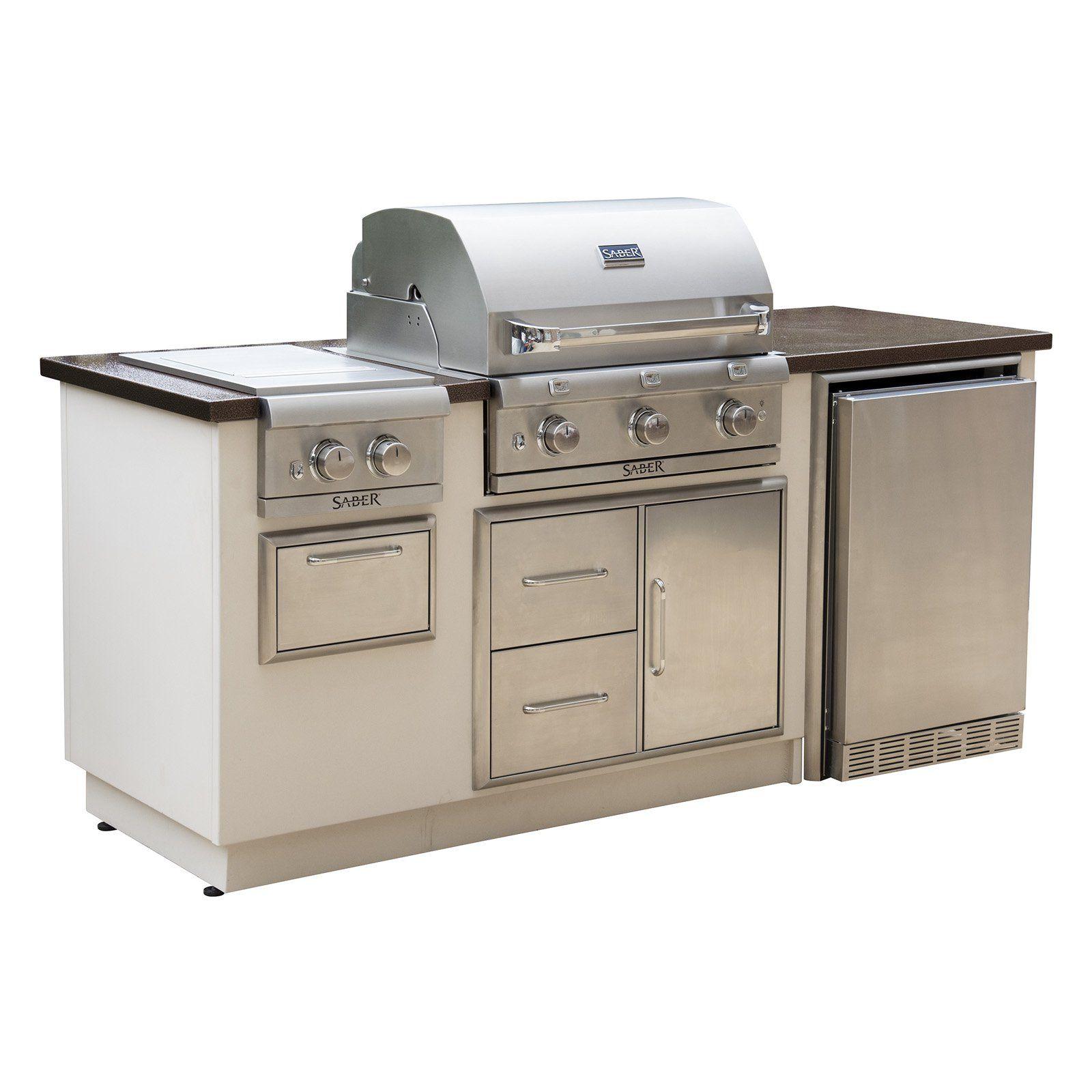 Saber Ez Outdoor R I50lk Kitchen Island With 3 Burner Gas