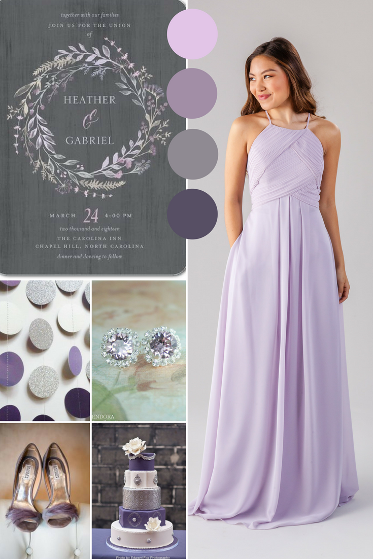 Milly high neck bridesmaid dresses unique bridesmaid dresses milly wisteria wedding purple and grey ombrellifo Choice Image
