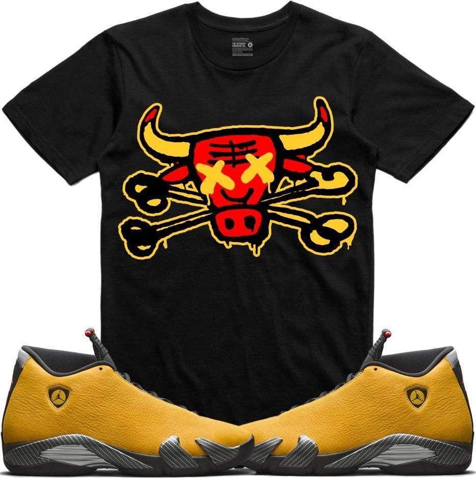 Jordan 14 Alternate Ferrari Sneaker Shirts Retro Kings Yellow Sneakers Sneaker Tee Jordan 14