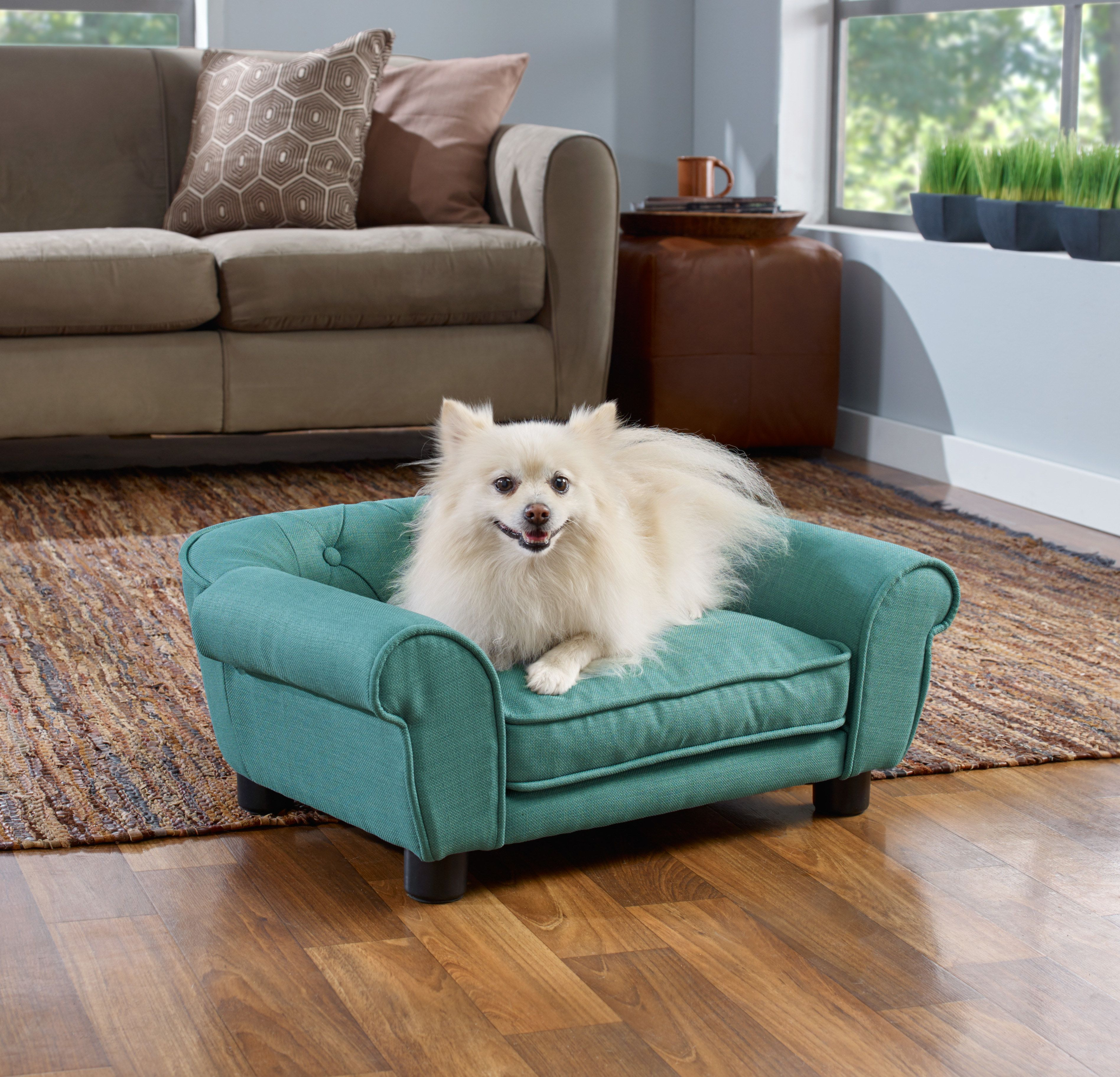 Enchanted Home Library Pet Sofa In Pebble Brown Pet Sofa Dog