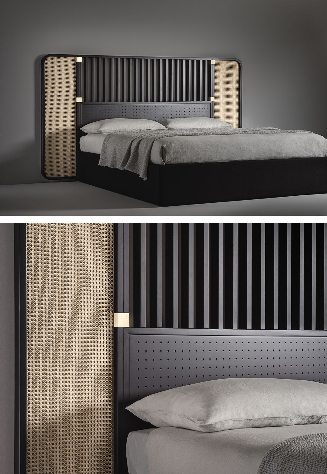 Bringing Their Highly Architectural Approach To The World Of Furniture For The First Time Storagemilano The Architect Bed Headboard Design Bedroom Bed Design