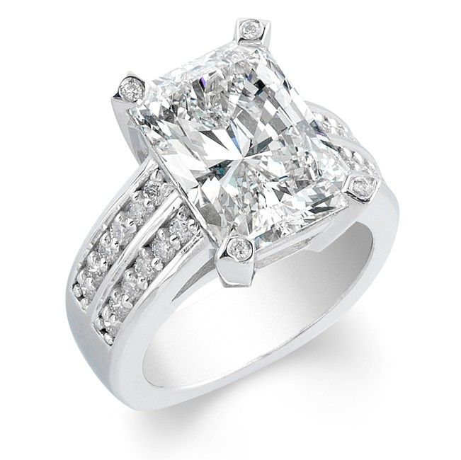 Ladies Platinum and Round Diamond Engagement Ring Prong Set - This diamond engagement ring is handcrafted to perfection!  Each diamond is hand picked to ensure only the finest quality of diamonds are used; 1800 Loose Diamonds only uses diamonds within the range of F-G in color and SI-VS in clarity.  Engagement ring can be sold with or without the diamond set; please explore our large diamond inventory to find the perfect match!  Can be made to fit any size or shape diamond.  Can be made to…
