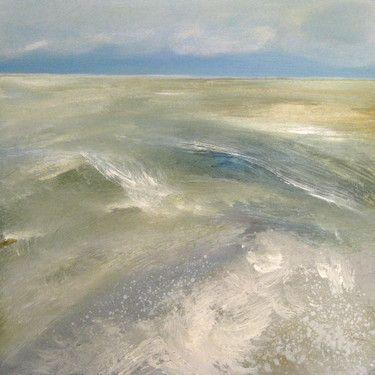 "Saatchi Art Artist Nelly Van Nieuwenhuijzen; Painting, ""The sea touching the coast"" #art"