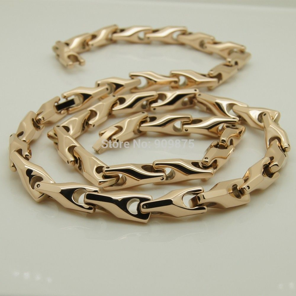 vary width length 14\'\'-40\'\' 8mm width rose gold plating classic ...