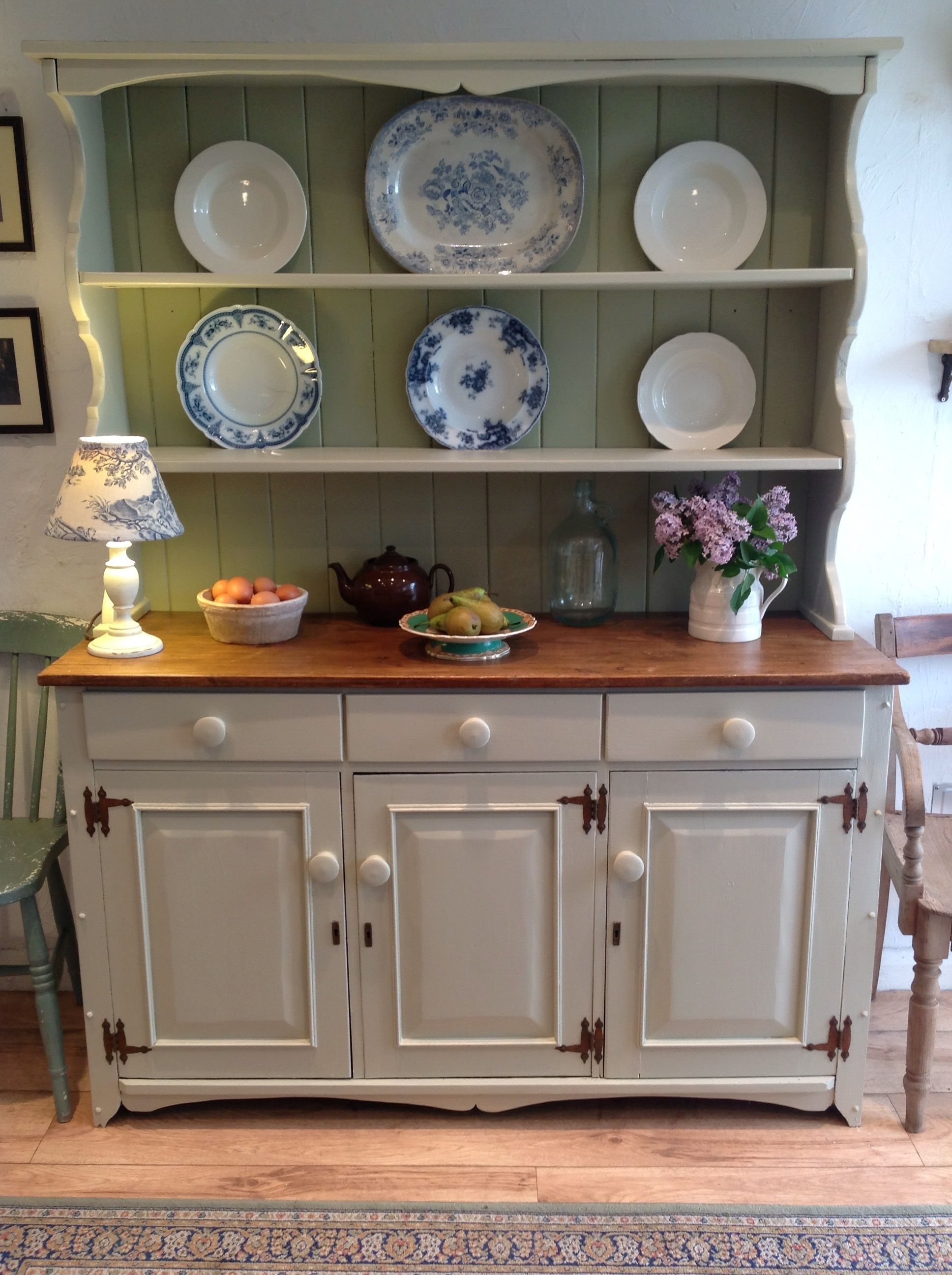 Stunning Large Vintage Dresser Farrow And Ball Old White With