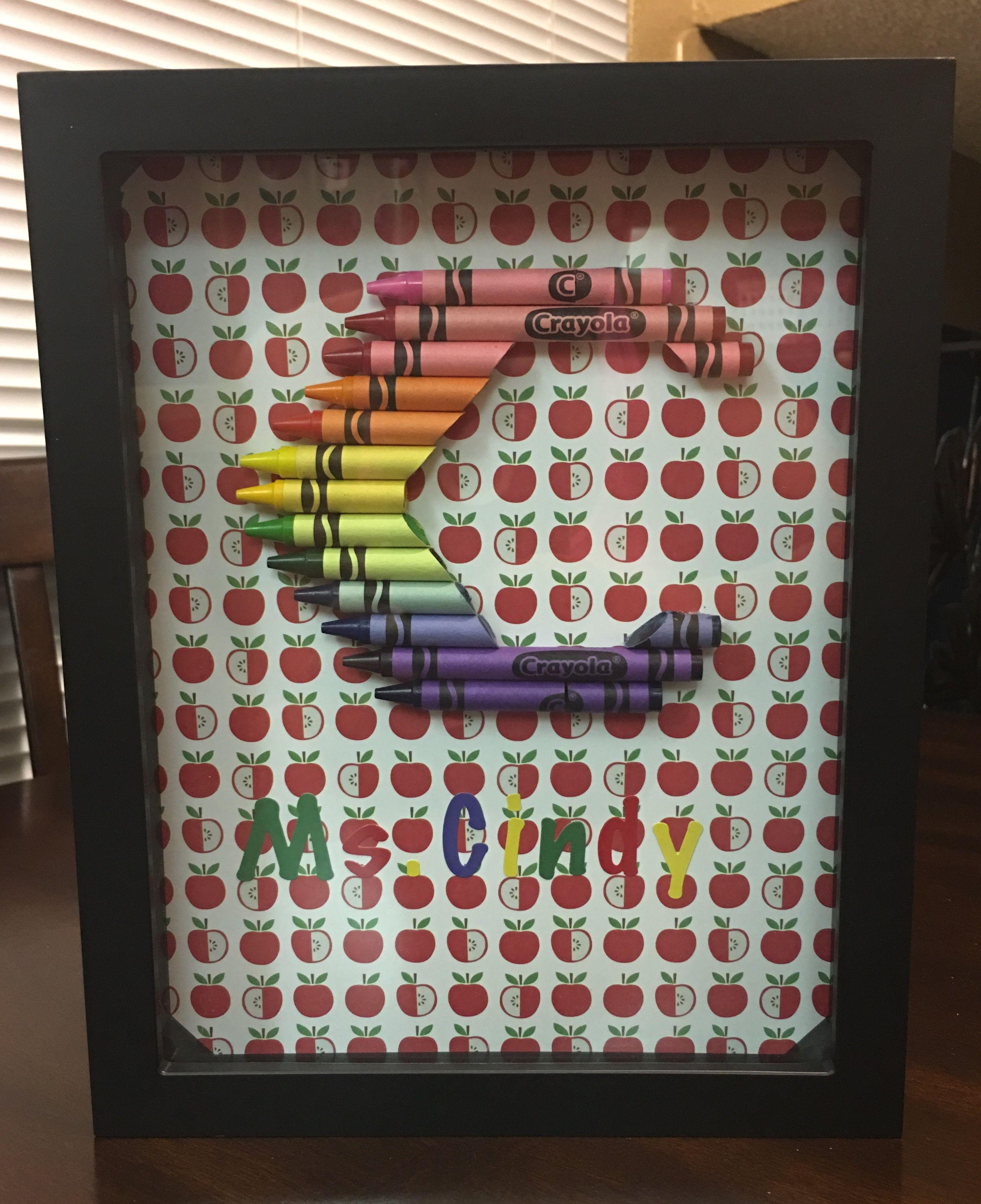 Crayola Monogram Shadowbox C Shadow box, Crayola, Creation