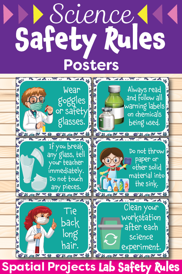Science Safety Rules Posters Science safety rules