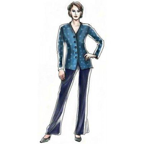 5038 Flared trousers - Pantalons  > Lekala