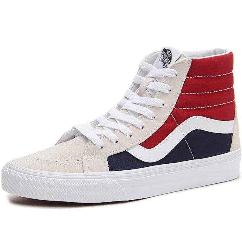 30109e1b0f0 Retailmenot Coupon Vans SK8 Hi Spring Sailing Series of Red And Blue Canvas  Skate Shoe Vans For  Vans