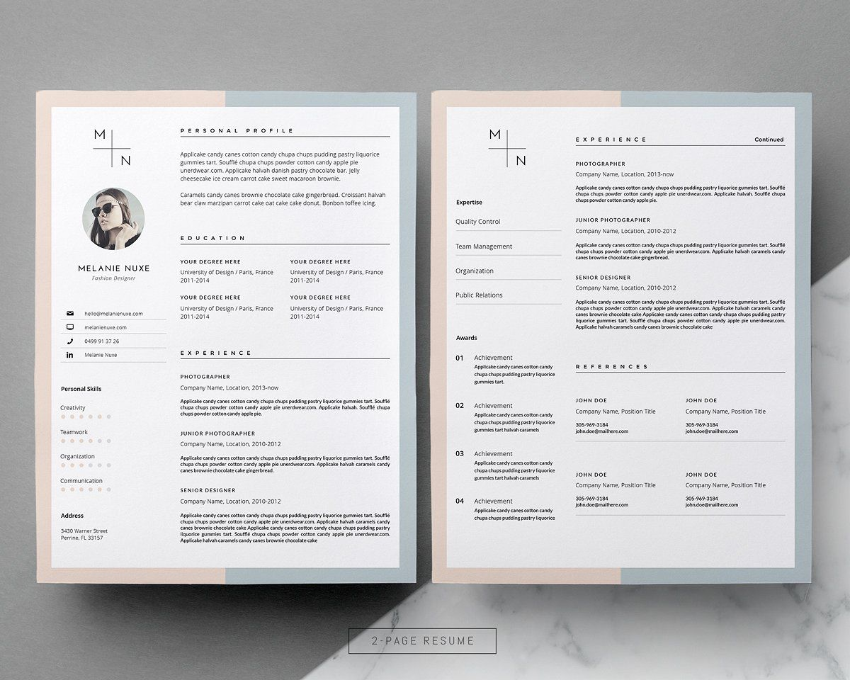 Creative Cv Design  Cover Letter By This Paper Fox On