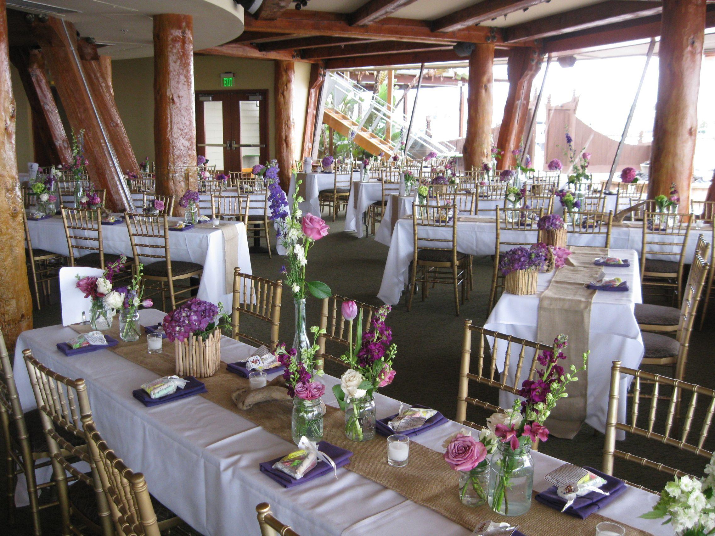 D S Wedding Reception At The Bali Hai Tropical Wedding Theme Rehearsal Dinner Centerpieces Hawaiian Wedding