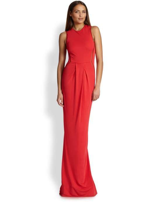 Saks Fifth Avenue   Sleeveless Mesh-Inset Gown #saks #gown