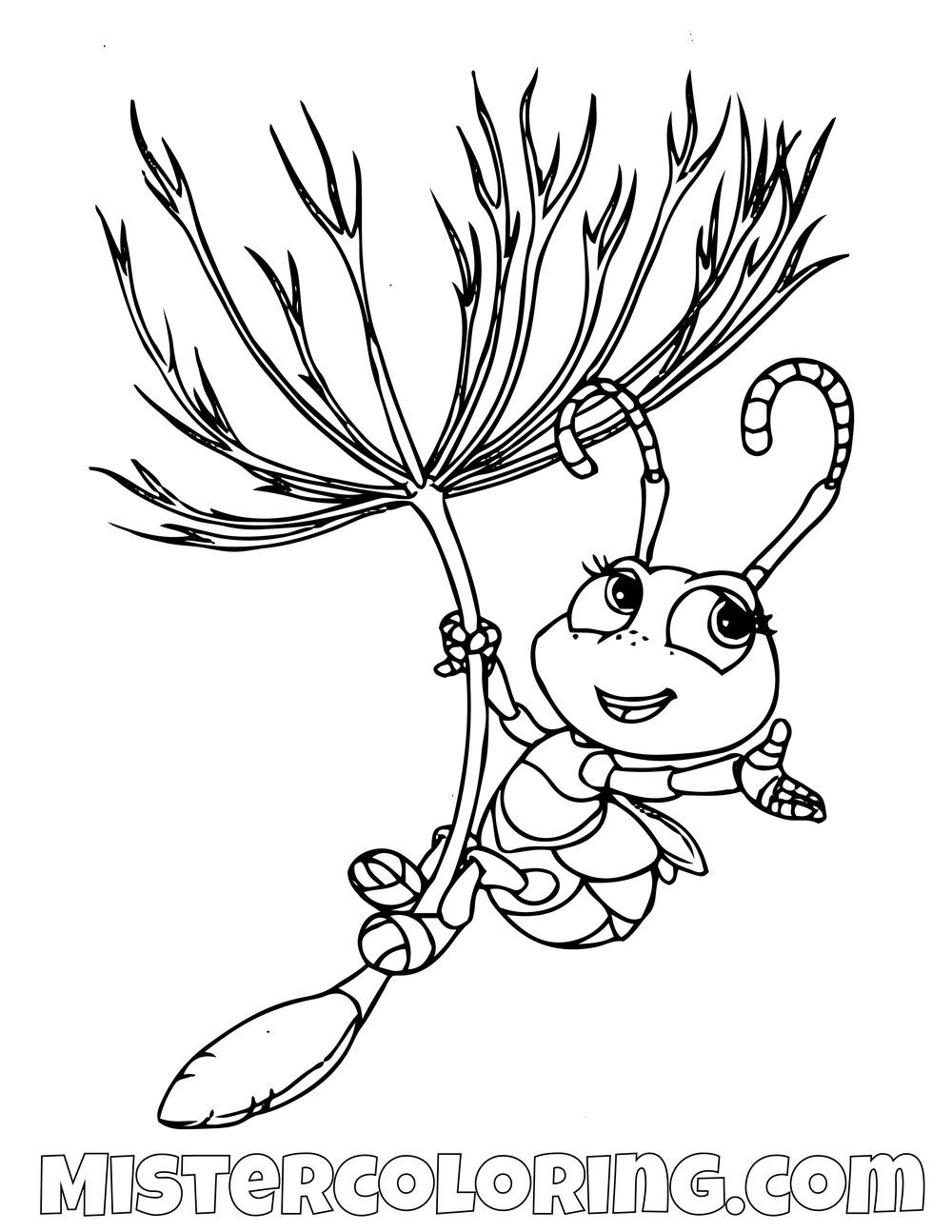 Dot Flying A Bugs Life Coloring Page Unicorn Coloring Pages Coloring Pages Disney Coloring Pages Printables