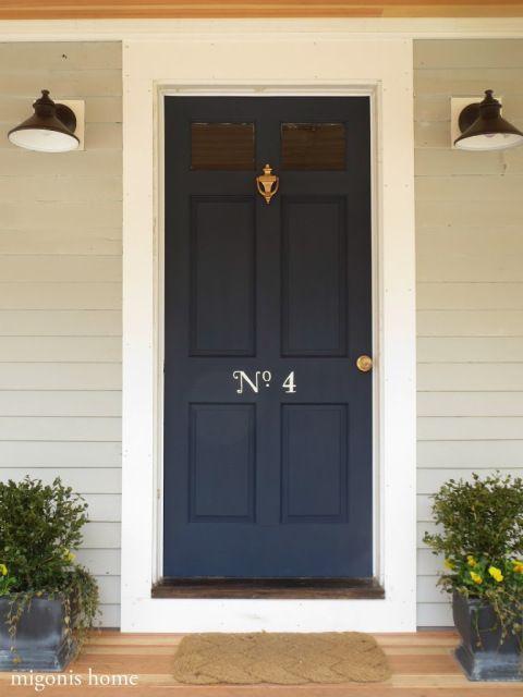 navy blue door - Behr Club Navy & Door Color Ideas: 10 Pretty Blue Doors | Pinterest | Doors Front ...