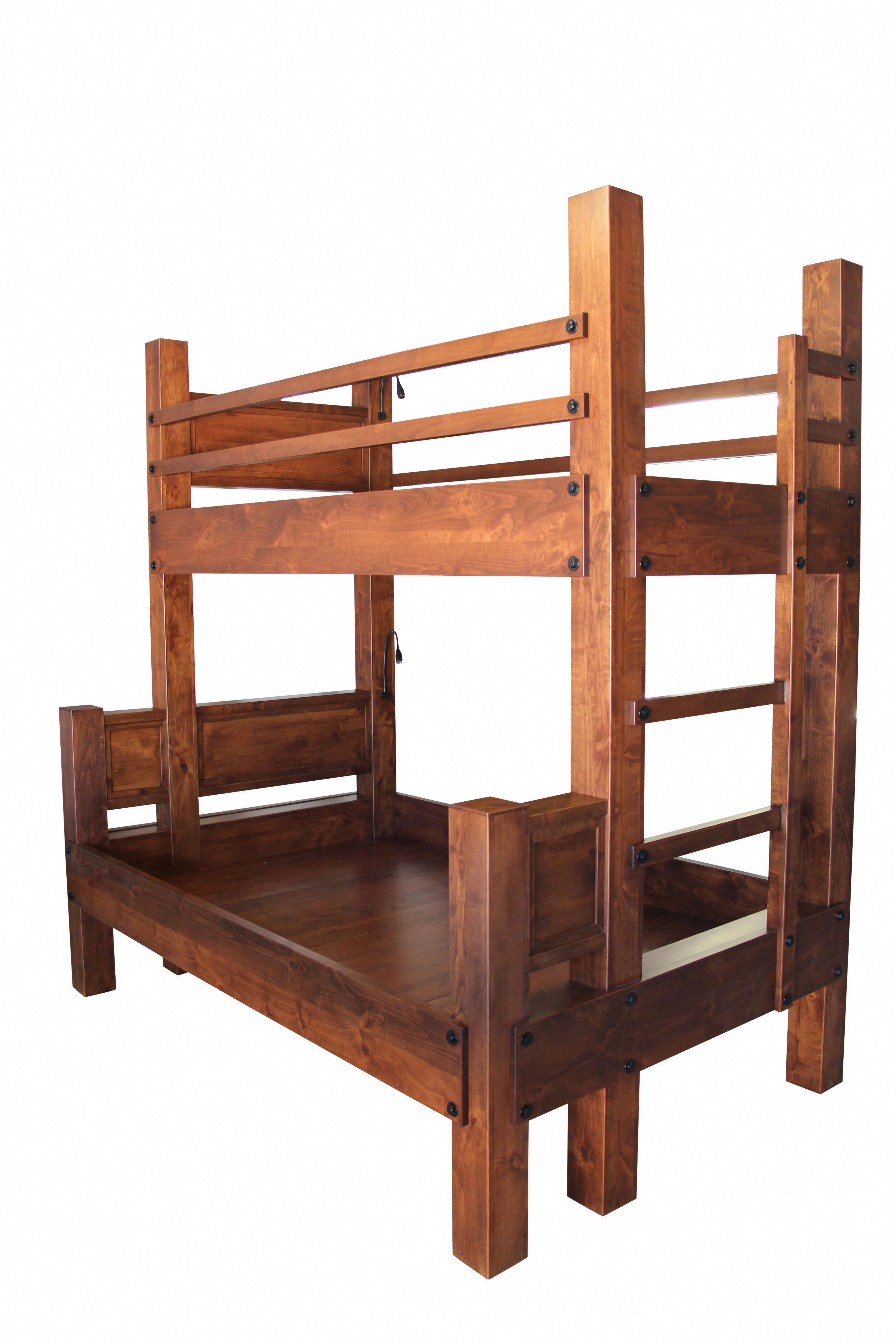 Loft bed with desk and chair  Custom Made Twin Xl Over Full Xl Bunk Bed bunkbeddesigns
