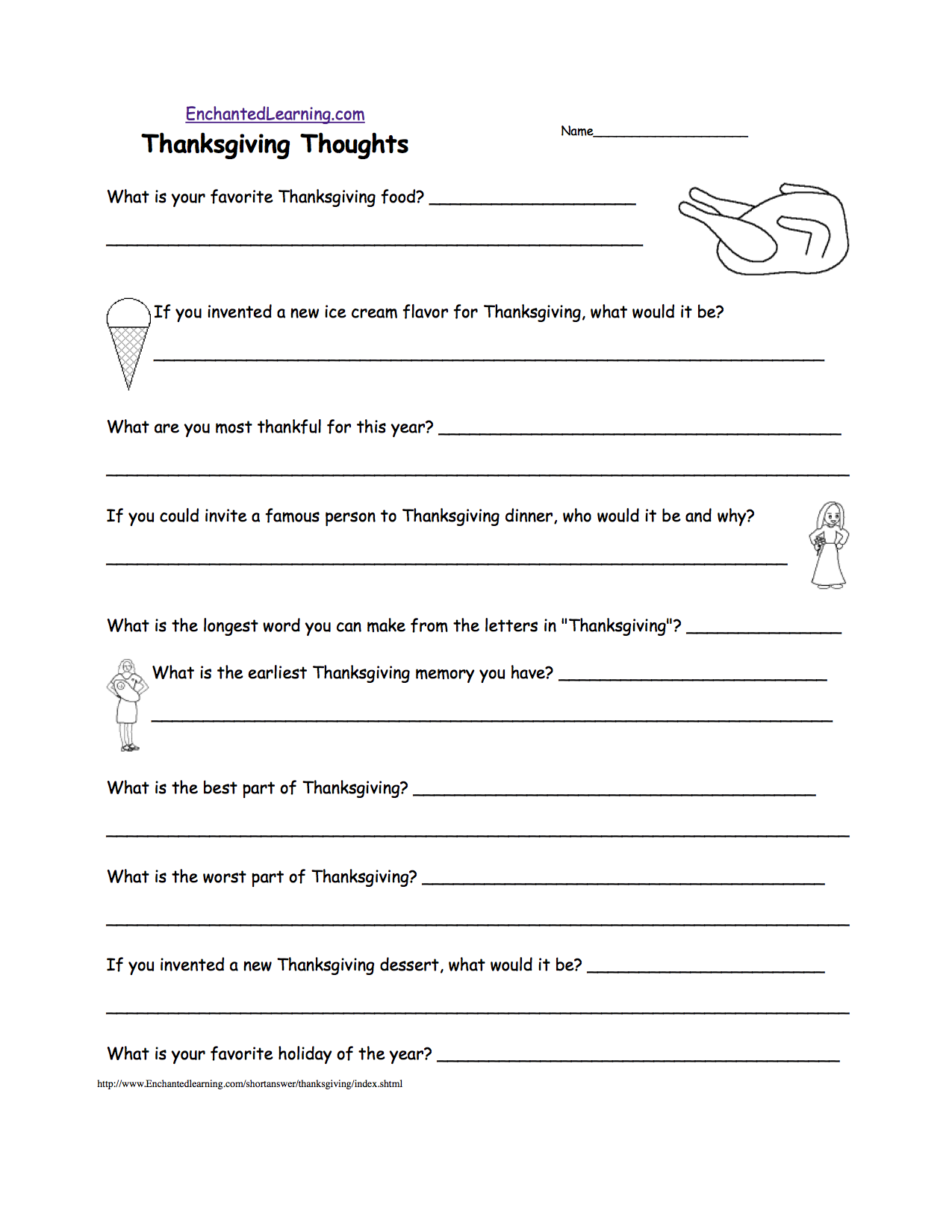 Grade 1 Pilgrims Thanksgiving Printable | Thanksgiving Printables ...