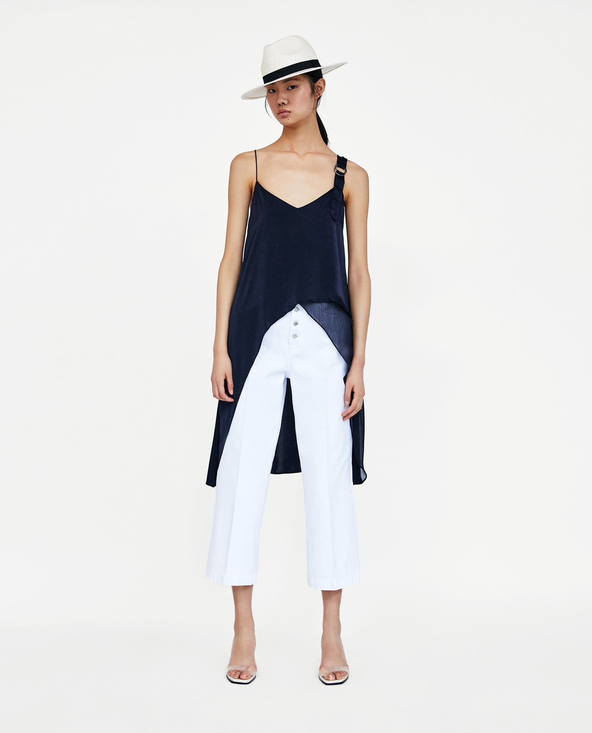 ZARA - WOMAN - COMBINED ASYMMETRIC TOP d014a9e1e